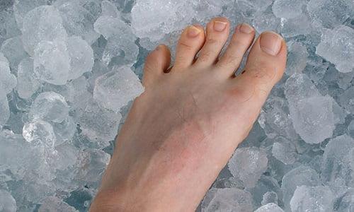 pediluvio ghiacciato