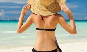 crema naturale per il sole sulla pelle