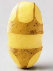 succo di patate crude...e nude